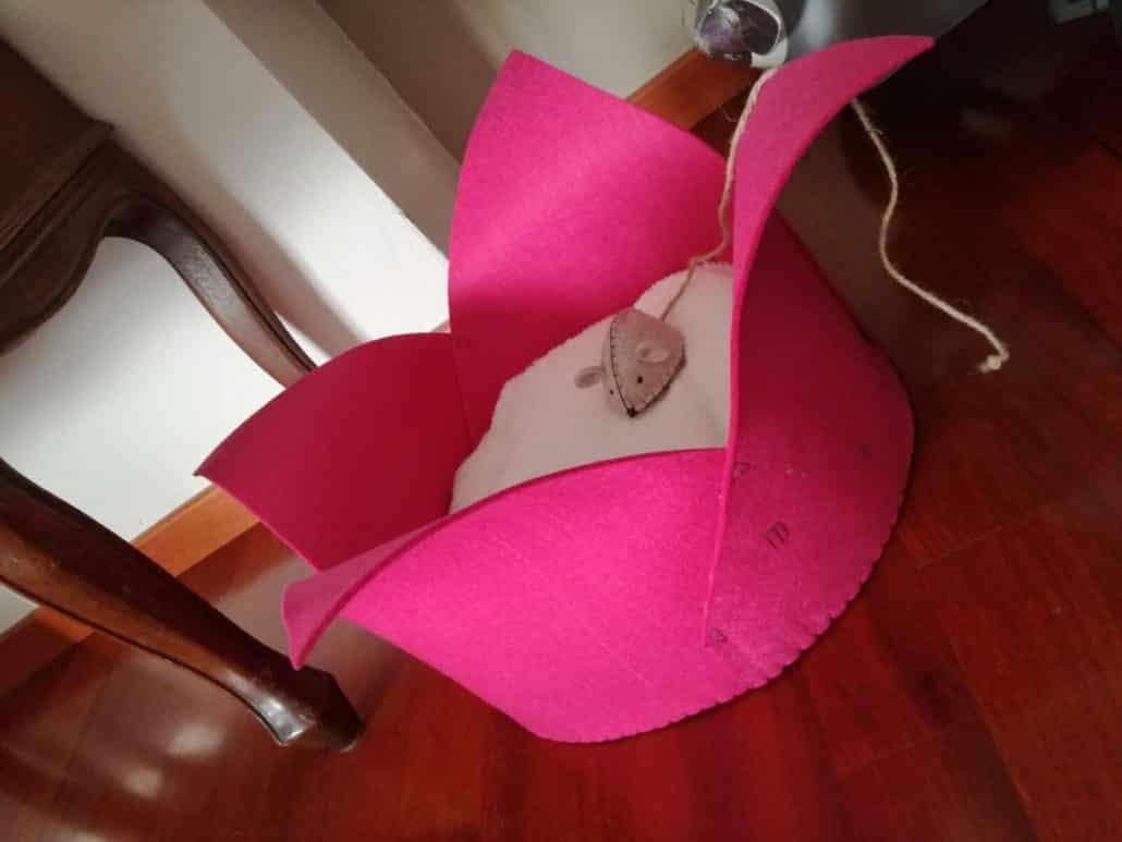 Cuccia rosa per gatto